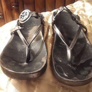 Tory Burch gold bronze Sandals 9M